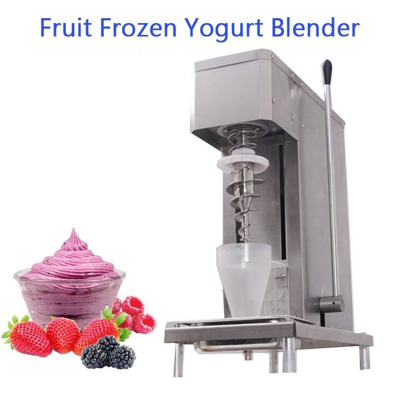 Best quality real fruit ice cream blending machine / frozen yogurt blender bql 178 fruit swirl frozen yogurt mixer approved ec 220v 110v fruit frozen yogurt tap water mixing machine valve self cleaning
