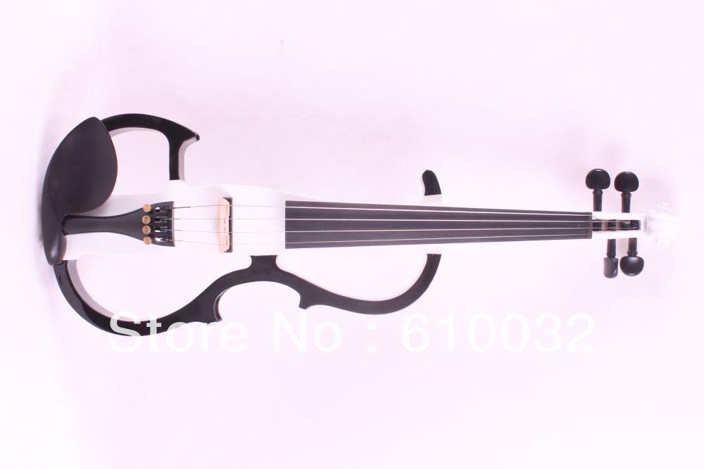 4 strings 4/4 Electric Violin Silent Pickup Fine tone parts include New Golden Color #8-21black white    color 4 4 high quality 5 string electric violin yellow 2 pickup violin