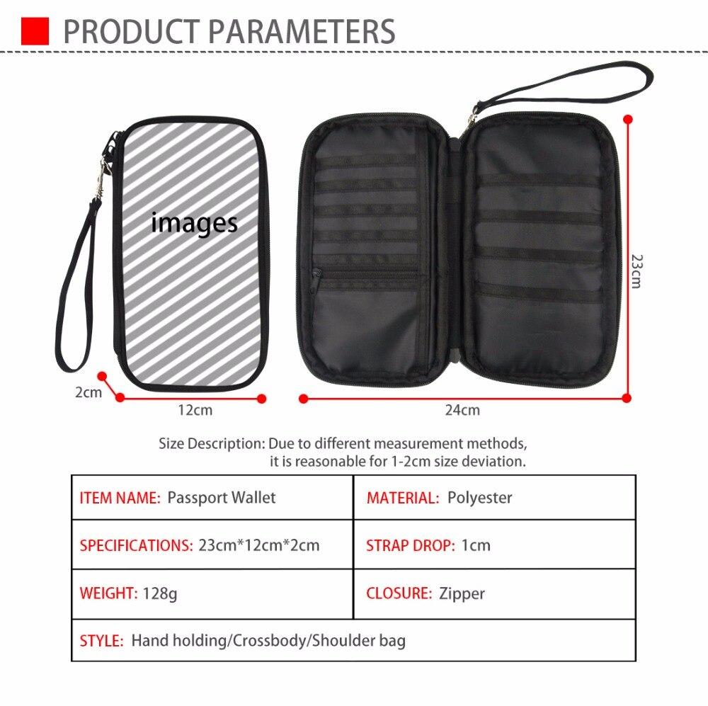 Coloranimal Women Men Fashion Travel Passport Money Bags Customized Printing ID Passport Holder Credit Card Pack Multi Pockets