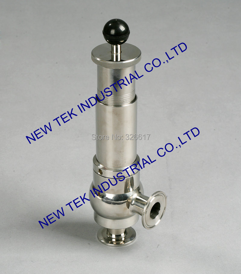 11/4  triclamp sanitary safety valve SS304 stainless, 32mm triclover tank pressure release valve 10bar opening pressure safety valve ya 20 3 4 ake 1mpa ultifittings com