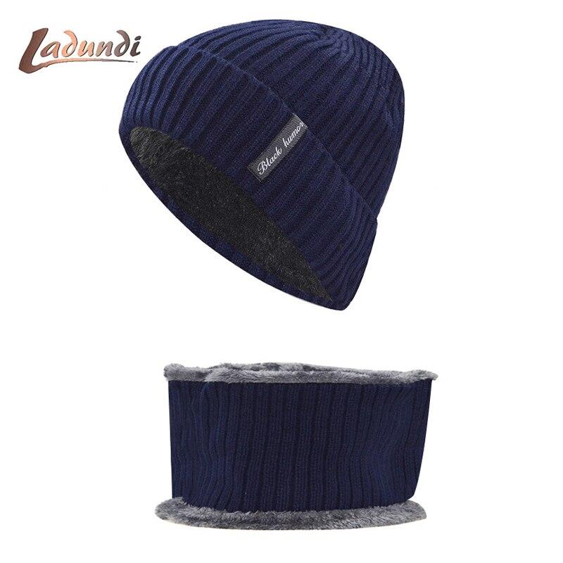 Winter   Beanies   Men Scarf Knitted Hat Caps Mask Gorras Bonnet Warm Baggy Winter Hats For Men Women   Skullies     Beanies   Hats
