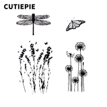 Dragonfly Butterfly Dandelion Transparent Clear Silicone Stamps for Photo Album Embossing Scrapbooking Folder Making Paper Decor