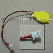 Free shipping For CR2032 laptop motherboard battery Universal CMOS battery 3V BIOS battery with a line