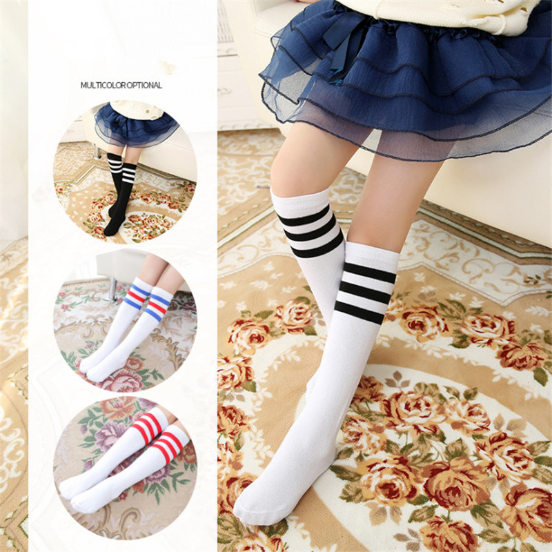 Women Long Socks  Black Female Long Striped Thigh Socks Stockings School Girls New Fashion Dance Knee Socks For Girls Long Socks
