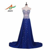 6cd0aae6eb8fe ANTI Robe De Soiree Sweetheart Royal Blue Evening Dress Party Elegant  Vestido De Festa Long Prom