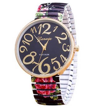 Hot Sale Fabulous Luxury Women Elasticity FlowerShrink Bracelet Quartz Wrist Watch relojes mujer Drop Shipping 1
