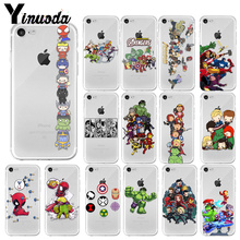 Yinuoda Marvel Avengers Case Iron Man Capitao America Soft Phone Cases For iPhone 4 5 6 7 8 X Plus XR Cover
