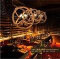 Скандинавский Ретро Лофт винтажный пеньковый трос Железный круглый шар подвесной светильник для ресторана бара спальни столовой E27 подвес...