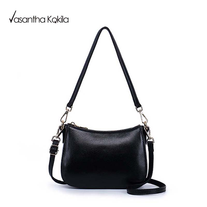 8422eda0a38d Black SOFT Genuine Leather Women HOBO Bag Leather Gold Logo Shoulder Work  Handbag C Women Bucket