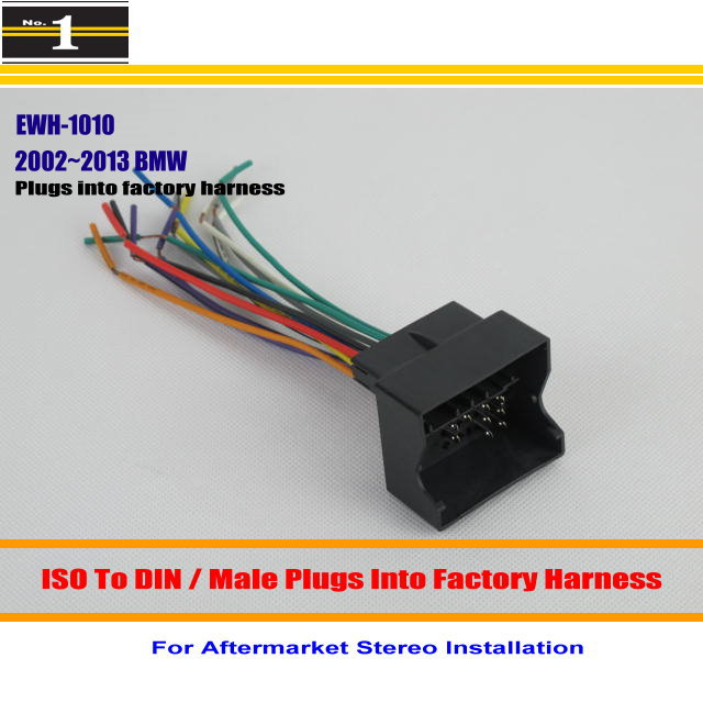 popular car stereo wiring harness buy cheap car stereo wiring for bmw 2002~2013 male iso radio wire cable wiring harness car stereo