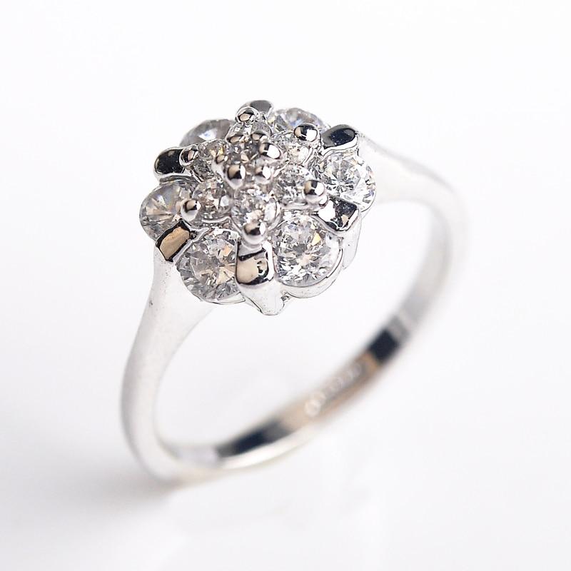 Ustar Flower Zircon Wedding Rings For Women Jewelry Austria Crystals