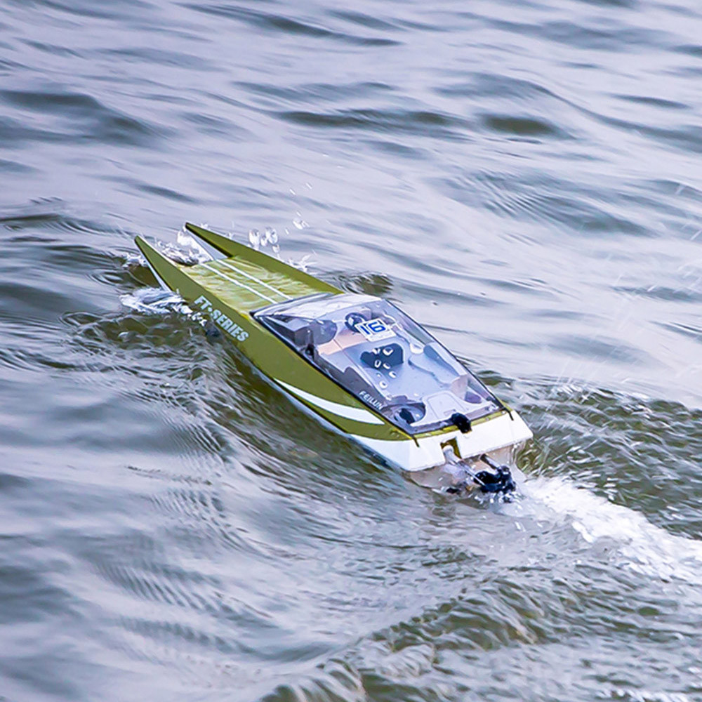 Kids Toy Boat FT016 High Speed RC Boat 2.4GHz 4 Channel Racing 100 meters Remote Control Boat Rich family Kids birthday Gift lcll rc boat radio remote control twin motor high speed boat rc racing toy gift for kids eu plug