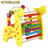 UTOYSLAND Creative Wooden Toy Multi function Counting Beads Fruit Kids Montessori Educational Toys for Children Gift Colorful
