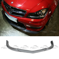 God Hand Style Car Tuning Real Carbon Fiber Front Lip Bumper Spoiler Splitter For Mercedes Benz W204 C63 2011 UP