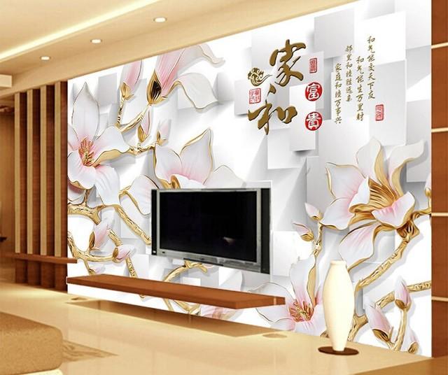 Chaude Peut Personnalis Chinois Magnolias Fleurs Grand D