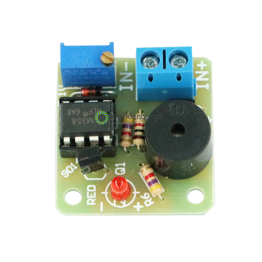 12V New Battery Acoustic Light Buzzer Prevents Over Discharge Controller Module
