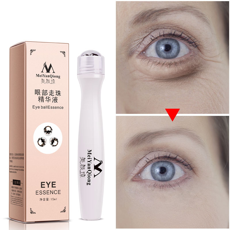 Eye Serum Roller Anti-Puffiness Remove Dark Circle Wrinkles Skin Care Anti-Aging Against Puffiness Moisturizing Eye Cream
