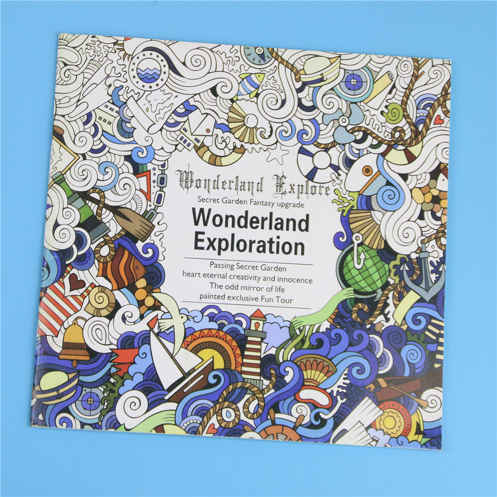 Secret garden colouring in book nz - 1 Pcs 24 Pages English Version Wonderland Exploration Coloring Book For Adult Relieve Stress Graffiti Drawing