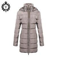 COUTUDI New Down Jacket Winter Women 2016 Chinese Stylish Long Khaki Parkas Female Warm Waterproof Hot