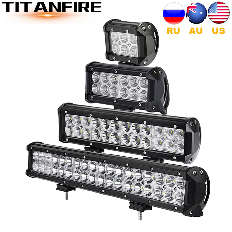 TF30 4 7 12 18inch 18W 36W 72W 108W Off Road LED Work Light LED Bar For Motorcycle Tractor Boat 4WD 4x4 Truck SUV ATV 12V 24V