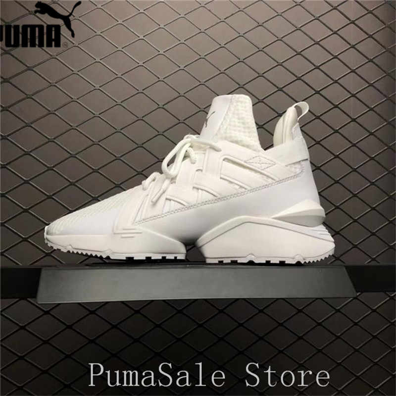 ... PUMA Women s Muse Echo Satin EP Sneakers Badminton Shoes 365522-01  White Color Sneakers High d707f0e40