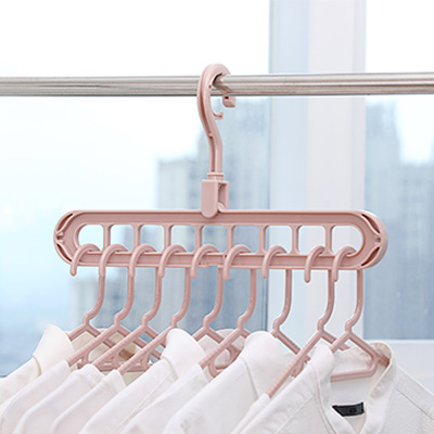 9 Holes Multifunction Support Circle Clothes Hanger Clothes Drying Rack Plastic Scarf Clothes Hangers Hangers Storage Racks -30