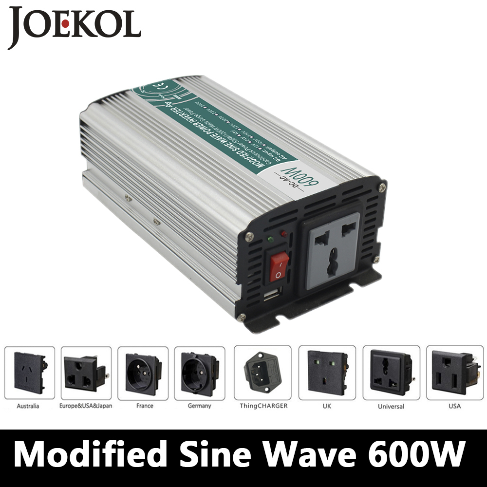 600W Modified sine wave inverter,DC 12V/24V/48V to AC 110V/220V,off grid inversor,solar inverter,voltage converter for home use