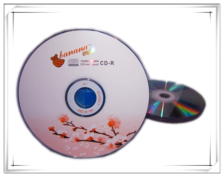 Wholesale 25 discs A+ Bananas Blank Printed 52x 700MB Seaflower CD-R