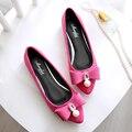 2016 новая весна холост обувь женская мода повседневная удобные плоские туфли красный мелкой совок обувь женщина указала тедди рабочая обувь