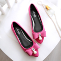 2016 new spring single shoes women fashion casual comfortable flat shoes red shallow scoop shoes female pointed teddy work shoes
