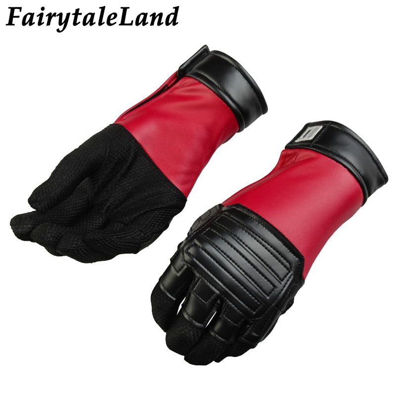 Deadpool 2 Cosplay Accessory Wade Winston Wilson Fancy leather cosplay gloves Superhero Deadpool Gloves cosplay cycling gloves