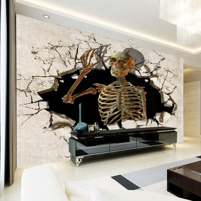 3D Skeleton Frame Mural Wallpaper Bedroom Living Room Sofa TV Background  Wall Mural Wall Paper Home