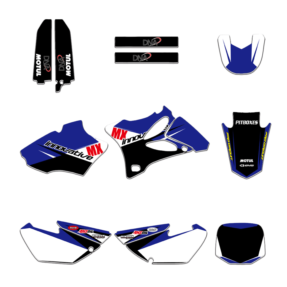 Motorcycle Dirt Bike TEAM GRAPHICS & BACKGROUNDS DECALS STICKERS Kits For Yamaha YZ85 YZ 85 2002  2014 Motocross 3M-in Decals & Stickers from Automobiles & Motorcycles    1