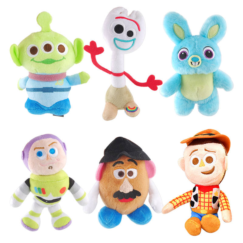 NEW Disney Pixar Toy Story 4 Plush Forky Woody Bunny Alien Buzz Lightyear Potato Head Stuffed Plush Doll Toy For Children Girl toy story bunny toys