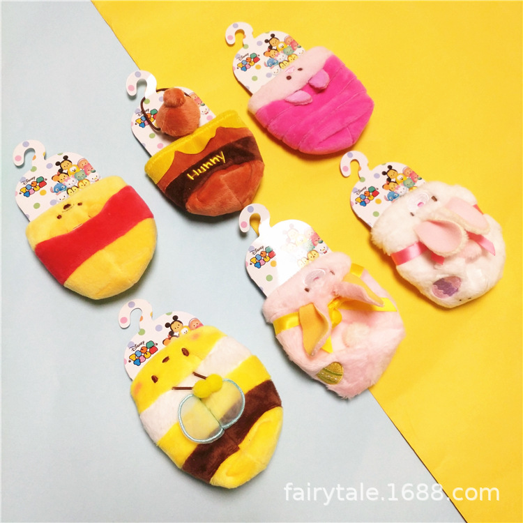2018 New Mini  Plush Toy Pendant Coat Cosplay Rabbit Bee Cloth Dressing For 3.5Inch Tsum Toys Kids Gifts Collection