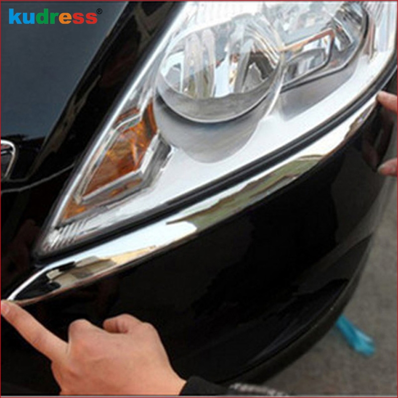 For Ford Focus 2 2009 2010 2011 ABS Chrome Front Headlight Eyebrows Cover Trim Head Lamp Decoration Protector Accessories 2pcs jbl control 28t 60