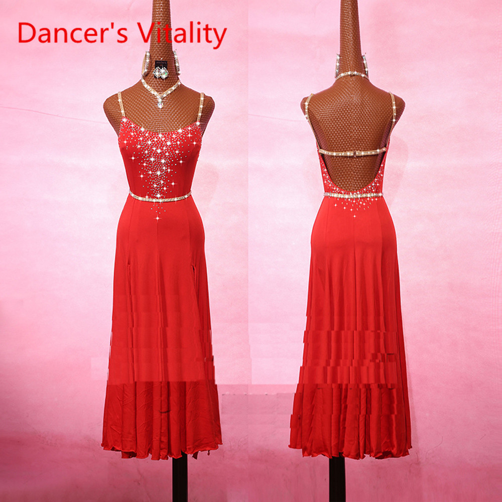 New Sexy Latin Dance Exercise Dress For Women Lace Stage Performance Cha Cha Rumba Samba Competition/Performance Costume