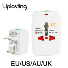 Alle Plug Universal World Wide US/AU/UK/EU Travel Adapter Elektrische Stekkers Sockets Converter AC Power converter Adapter Socket NIEUW(China)