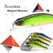 SEALURER Boxed Fishing lures Sinking Minnow Excessive High quality Sort out 100mm 11.7g Wobblers Crankbait with 6# Hooks 3D Eyes