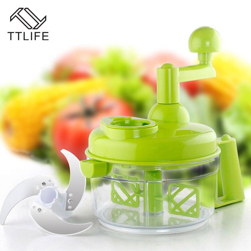TTLIFE Cutter Verdura Frutta Affettatrici Taglio A Mano Spremi Aglio Multi-funzione di Carne di Famiglia Grinder Verdura Chopper
