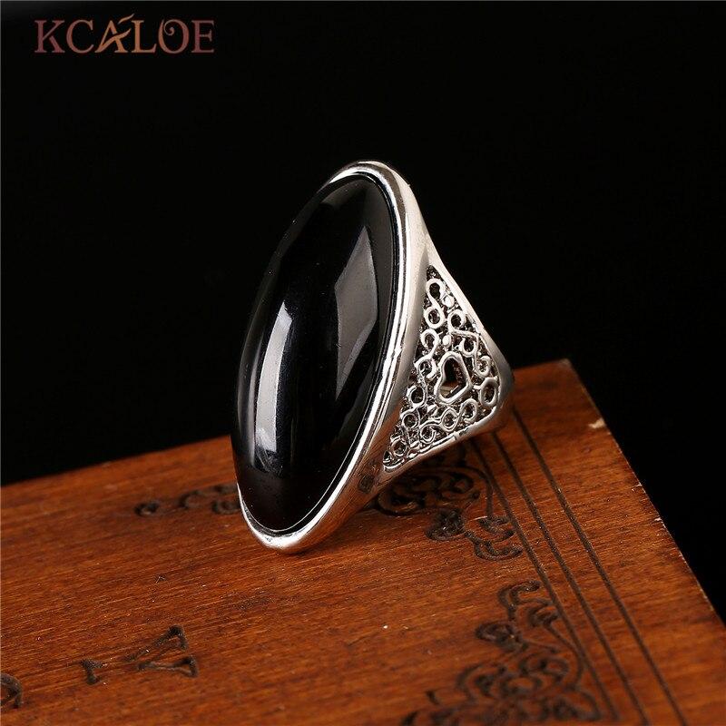 KCALOE natuursteen gele stenen Ring Rose goud kleur sieraden bagues - Mode-sieraden - Foto 5