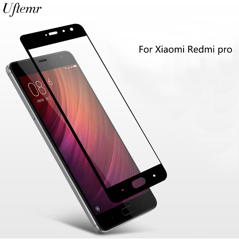 Uftemr Full Cover Tempered Glass Protector for Xiaomi Redmi Pro Tempered Glass New Black,White,Gold,Silver 4 Colors Available