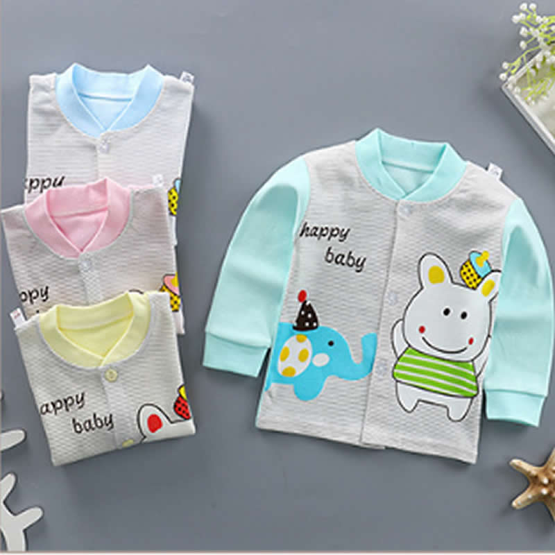 2018 Children's Bottoming Shirt Baby Combed Cotton Boy Girl Cardigan Jacket Infant Long-sleeved Kids Spring Autumn Coat