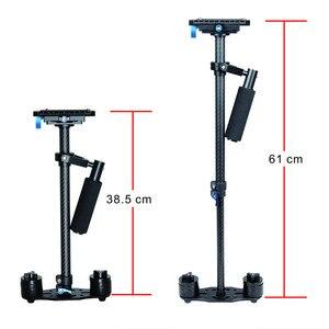 Image 2 - YELANGU S60T Professional Portable Carbon Fiber Mini Handheld Camera Stabilizer DSLR Camcorder Video Steadicam Better than S60
