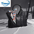 Genuine Leather + PU Women's Totes Bag 2017 New Fashion Diamonds Brand Handbag Lady Shoulder Bags Female Elegant Messenger Bag
