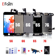 EFaith LCD ที่สมบูรณ์แบบ Full ASSEMBLY จอแสดงผลหรือสำหรับ iPhone 7 5 5G 5S 5C หรือสำหรับ iPhone 6 6s ด้วยปุ่ม Home และกล้องด้านหน้า