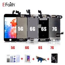 EFaith pantalla LCD completa para iPhone 7, 5G, 5S, 5C, 6, 6s, con botón de inicio y cámara frontal
