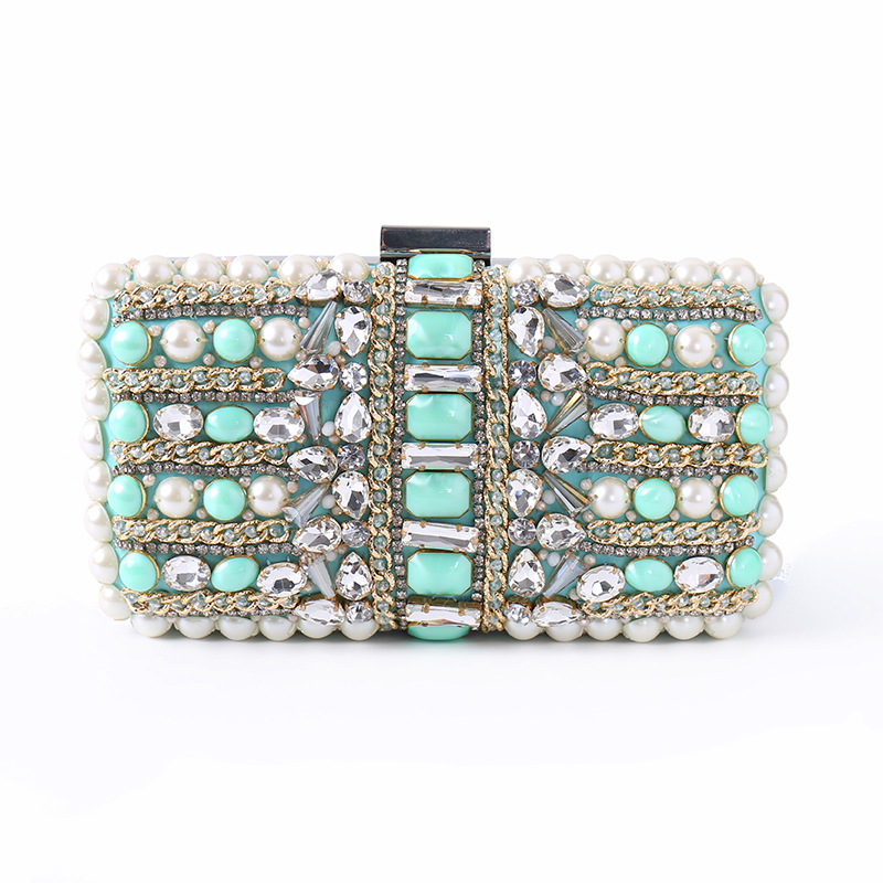 Ladies' Mini Evening Clutch Bag with Luxury Diamonds and Sequins for Party, Evening Handbags with Chain etaill glitter sparkling women clutch bags sequins beaded chain mini handbags bridal purse luxury party evening bag wholesale