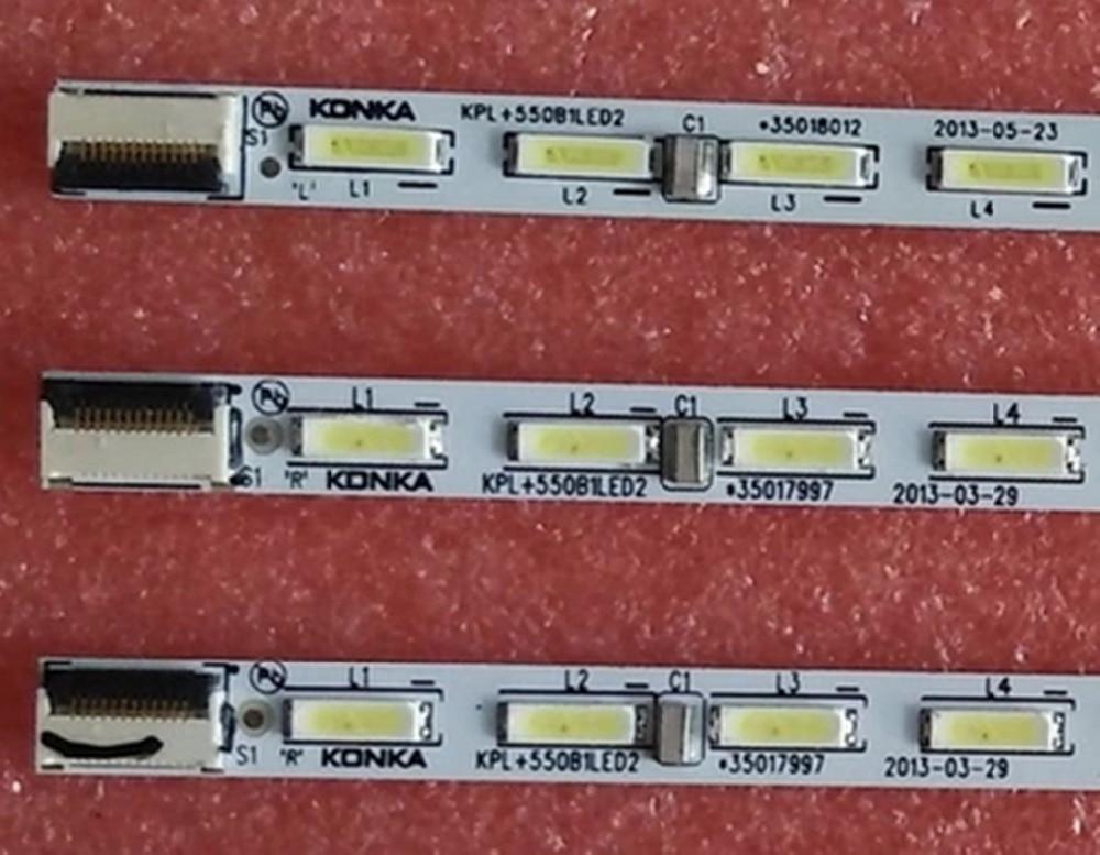 FOR Konka LED55M5580AF Backlight KPL+550B1LED2 35018085 35018012 35017996 35018013 35018014 1piece=56LED 613MM 1SET=L+R 2piece