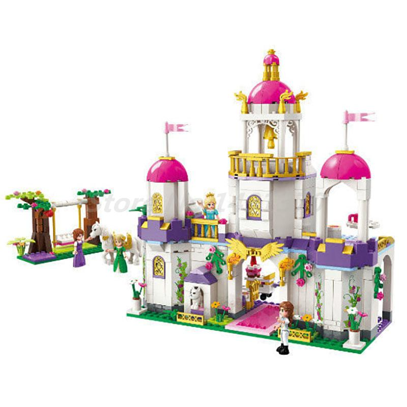Enlighten 2610 Girls Friends Princess Leah Brithday Party Building Block 4 Figures 587pcs Educational Bricks Toy For Girl Gift princess ponies 6 best friends for ever
